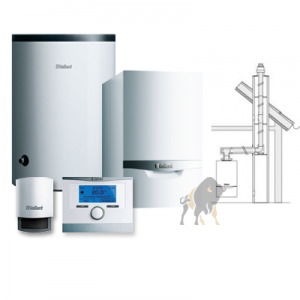 VAILLANT ecoTEC VC PLUS 146/5-5 + VIH R 200/6 B + multiMATIC 700/4f + KOMIN W SZACHT