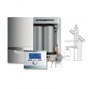 VAILLANT ecoTEC VCI PLUS 346/5-5 + ZASOBNIK + multiMATIC 700 + KOMIN W SZACHT